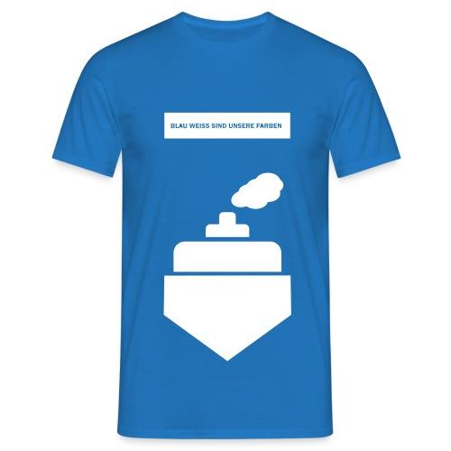 Blau-Weiß Dampfer - Männer T-Shirt