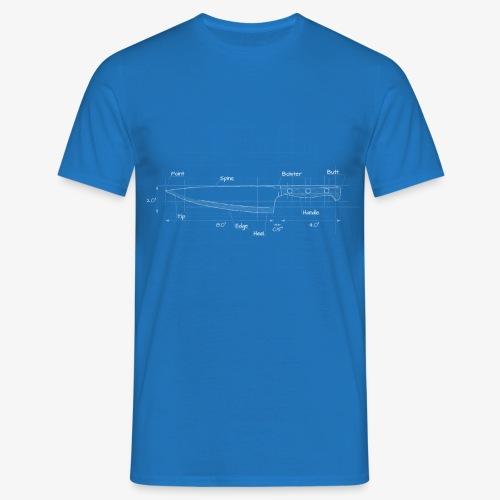 Cooks Knife Blueprint - Men's T-Shirt