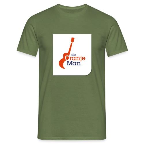 de oranje man logo groot op wit vlak - Mannen T-shirt