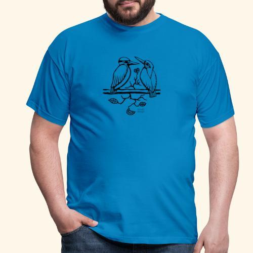 Eisvogel Liebe - Männer T-Shirt