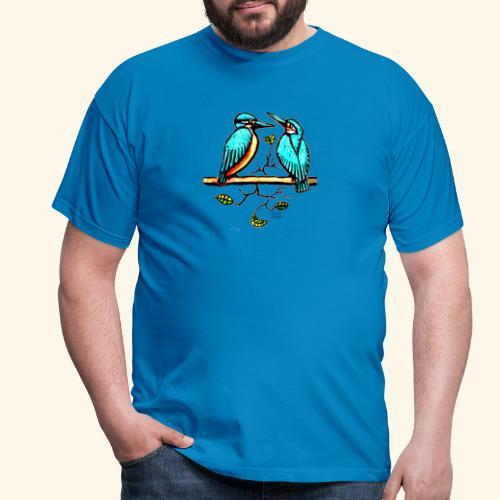 Eisvogel Paar farbe - Männer T-Shirt