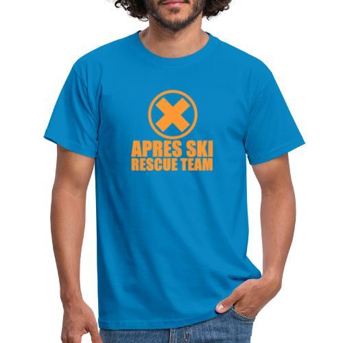 APRES SKI RESCUE TEAM - Mannen T-shirt