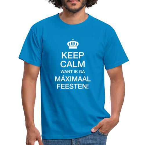 Keep Calm Máximaal feesten - Mannen T-shirt