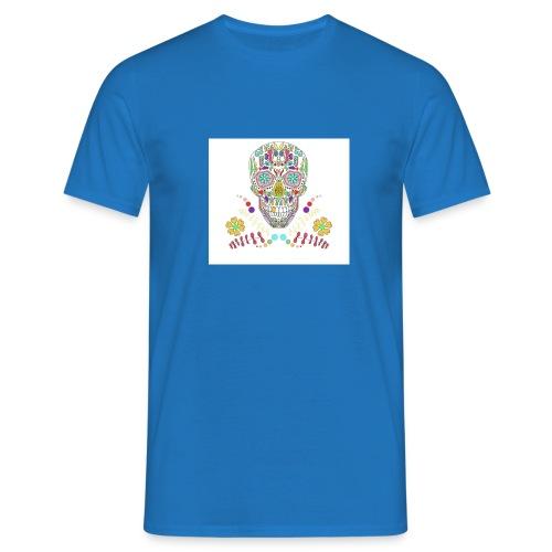 Bunter Totenkopf - Männer T-Shirt
