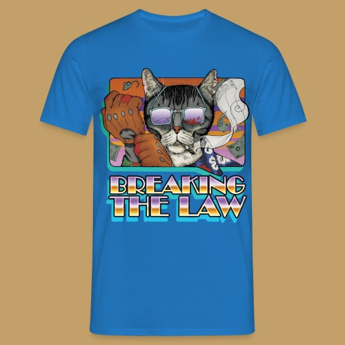 Crime Cat in Shades - Braking the Law - Koszulka męska