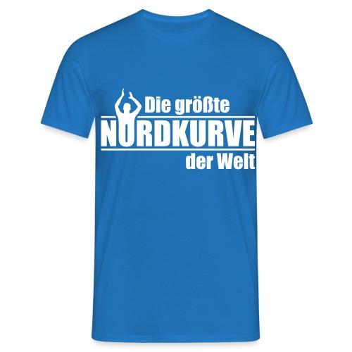 Die größte Nordkurve der Welt - Schrift - Männer T-Shirt