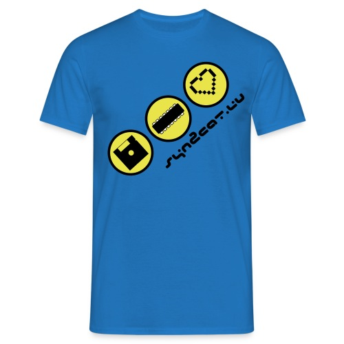 disc chip love (blue edition) - Men's T-Shirt