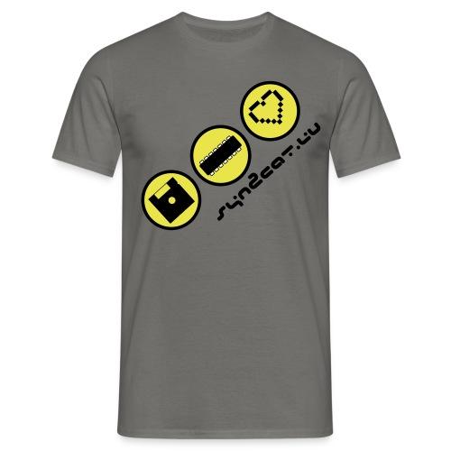 disc chip love (blue edition) - Men's T-Shirt