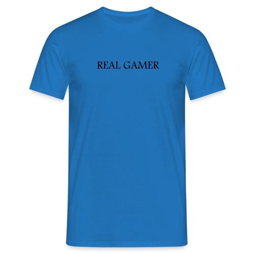The Real Gamer - Männer T-Shirt