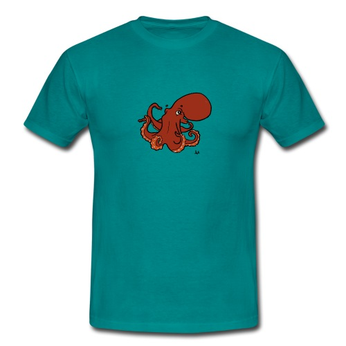 Giant Pacific Octopus - Men's T-Shirt