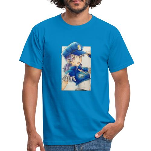 Manga poliziotta - Maglietta da uomo