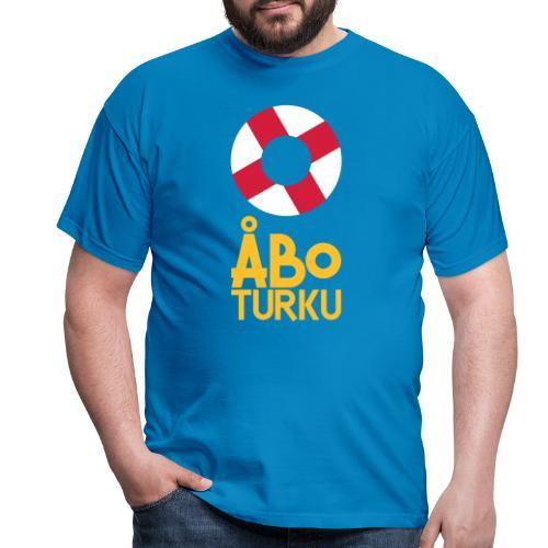 Livboj: Åbo (gul text) - Miesten t-paita