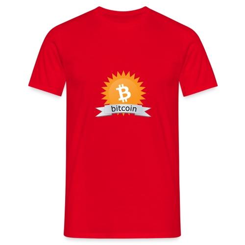 Bitcoin logo - Mannen T-shirt