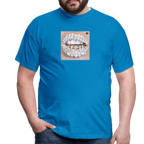 golden lips - Männer T-Shirt