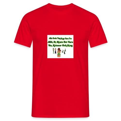 Vin, kvinnor och sång - T-shirt herr