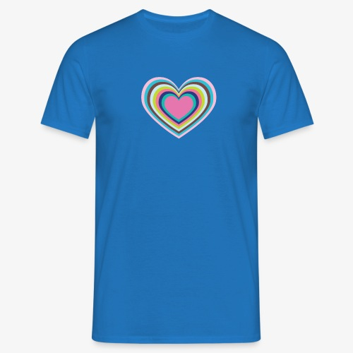Psychedelic Heart - Men's T-Shirt
