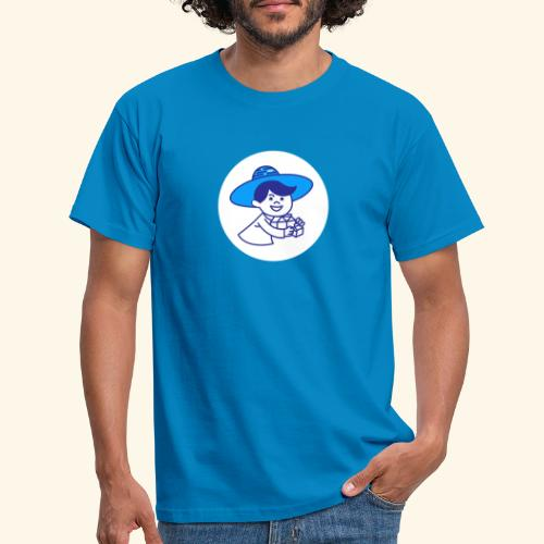 little guy white circle - T-shirt Homme