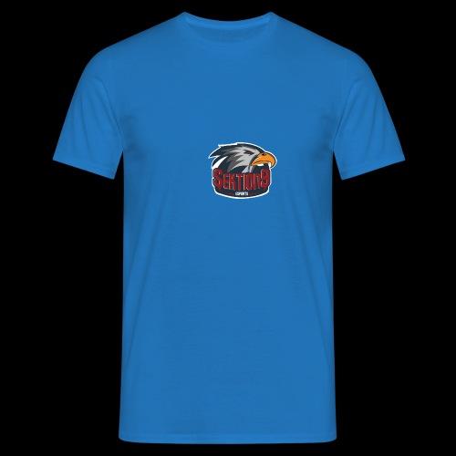 Sektion9 logo Grau - Männer T-Shirt