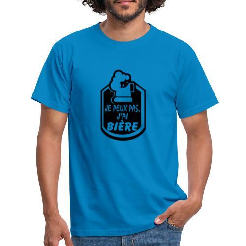 Je peux pas j'ai Bière - T-shirt Homme
