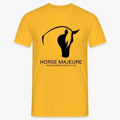 Horse Majeure Logo / Musta - Miesten t-paita