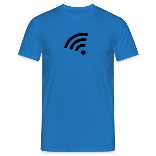 black wifi icon hi png - Männer T-Shirt