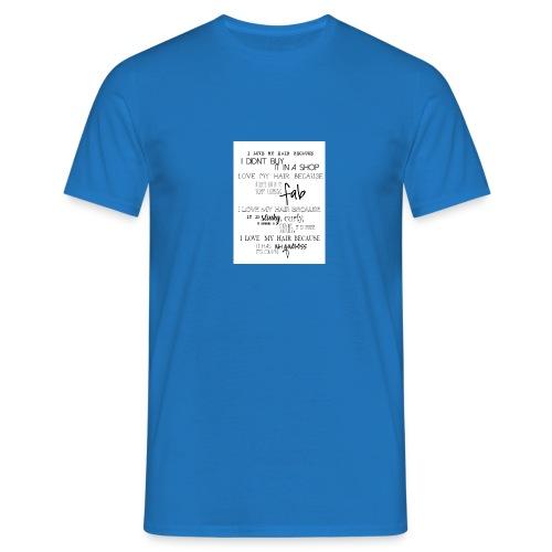 I LOVE MY HAIR - Men's T-Shirt