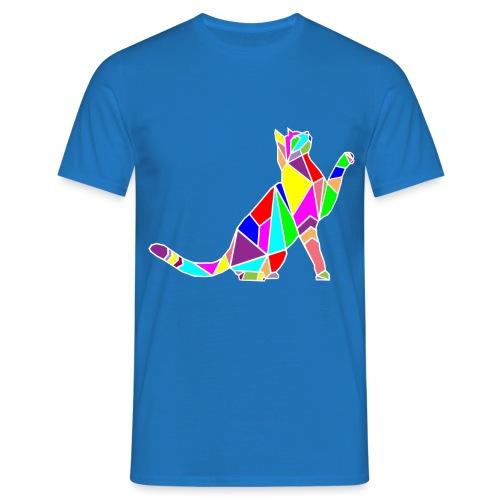 cat colors white pet animal art composicion - Maglietta da uomo