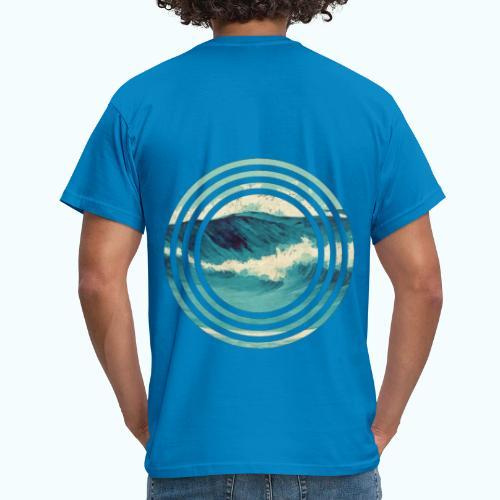 Wave vintage watercolor - Men's T-Shirt