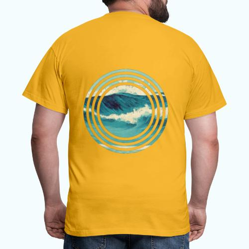 Wave vintage watercolor - Men's T-Shirt