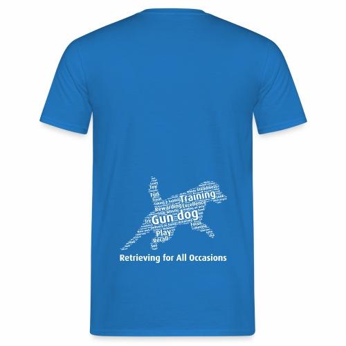 Retrieving for All Occasions wordcloud vitt - T-shirt herr