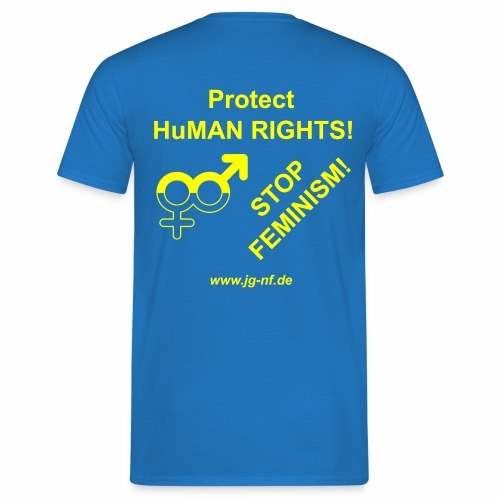 Protect HuMAN Rights - Stop Feminism - Männer T-Shirt