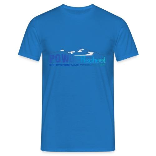 POWDERschool T-Shirt blau - Männer T-Shirt