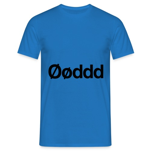 Øøddd (sort skrift) - Herre-T-shirt