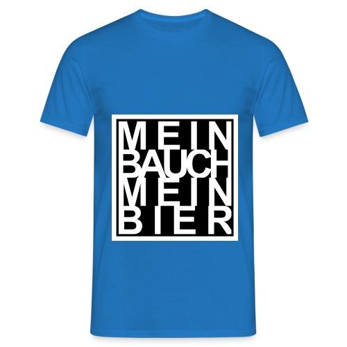 MEIN BAUCH MEIN BIER - Männer T-Shirt