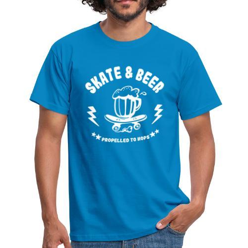 skateboard et bière - T-shirt Homme