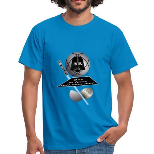 petanque star war force avec moi boule dark vador - T-shirt Homme