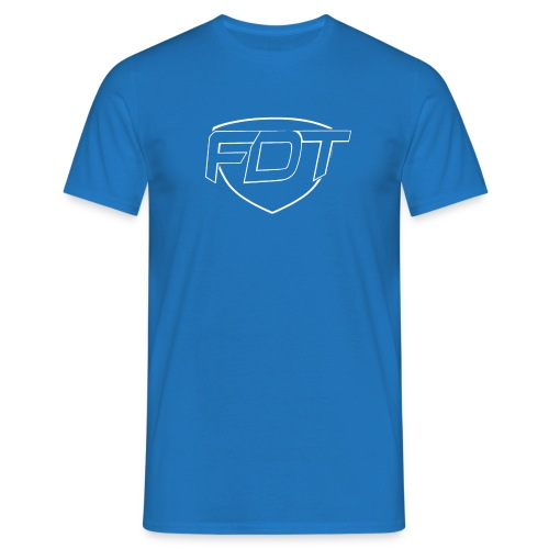 FDT initial HVIT - T-skjorte for menn