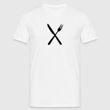 Haarukka ja veitsi - Miesten t-paita
