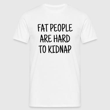 tłuszczu otyłość tłuszcz duże dieta - Koszulka męska