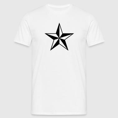 estrella náutica símbolo protección y orientación - Camiseta hombre