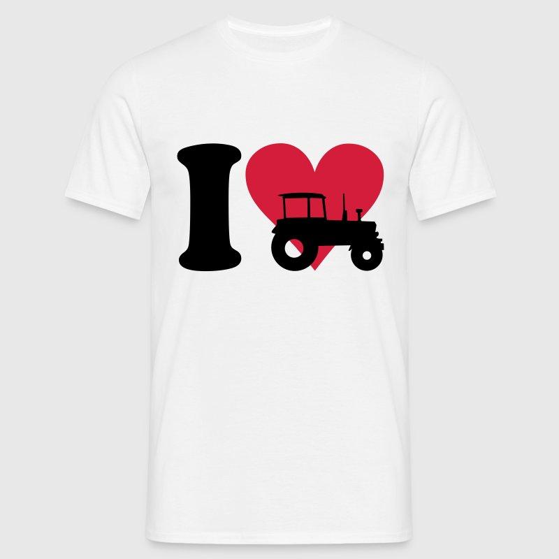 I love Tractor - Camiseta hombre