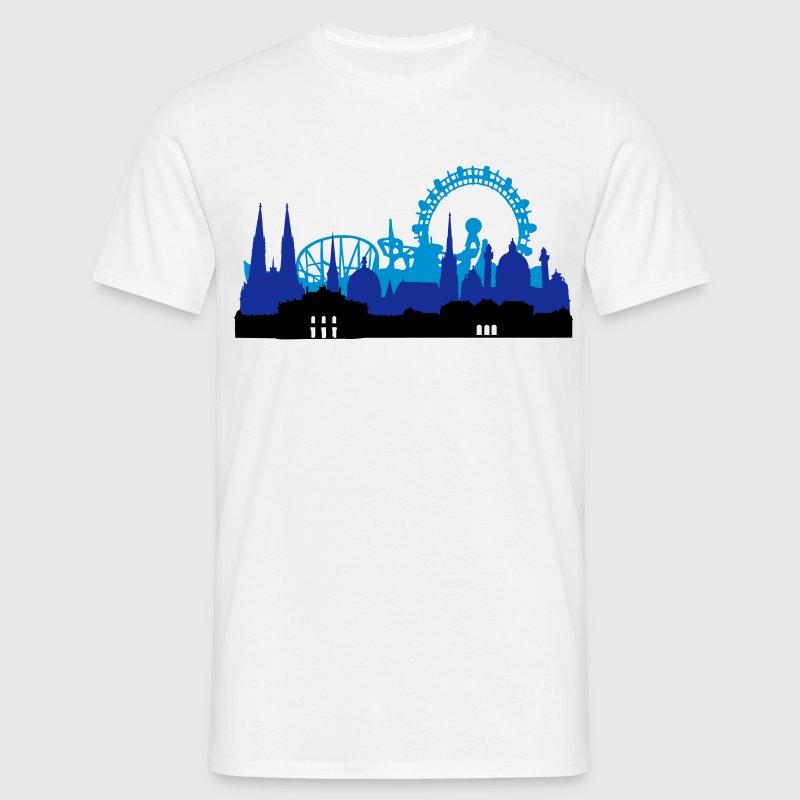 Wien Skyline - Männer T-Shirt