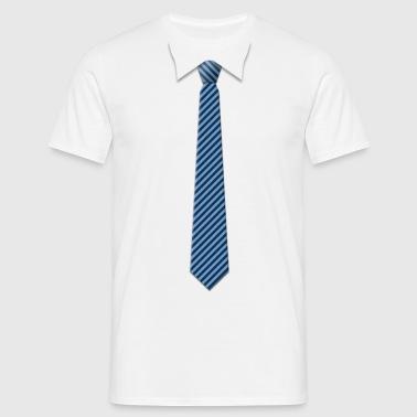 Tie with big stripes - Mannen T-shirt