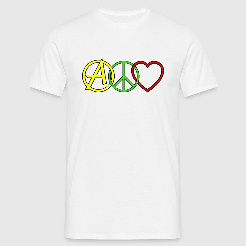 ANARCHY PEACE & LOVE - Koszulka męska