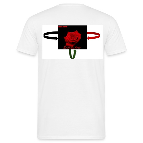 Kristian Arts Roses are red kollektion - Herre-T-shirt