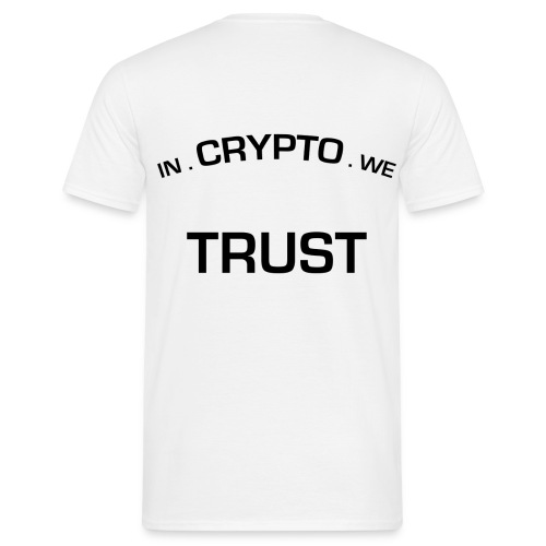 In Crypto we trust - Mannen T-shirt