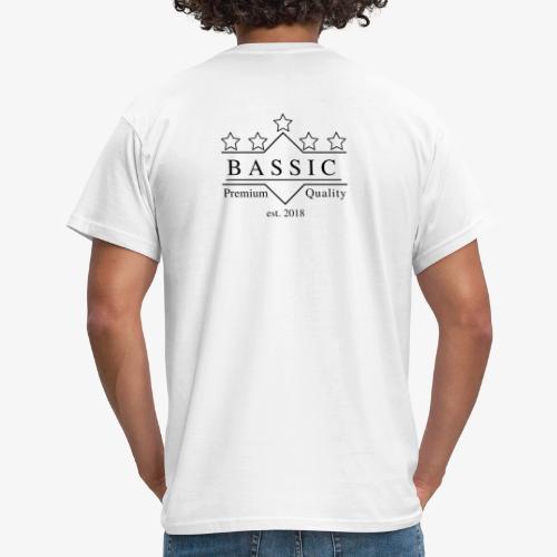 BASSic Design Five-Star-White-Edition - Männer T-Shirt