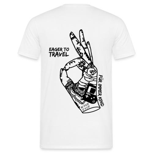 Eager To Travel - Für immer Kind - Weiß - Männer T-Shirt