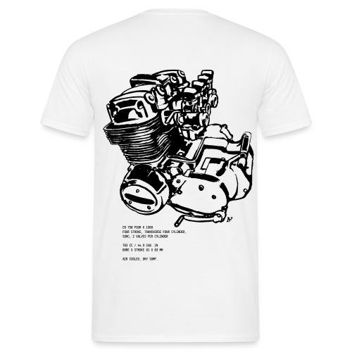 CB 750 Motorrad Motorblock - Männer T-Shirt