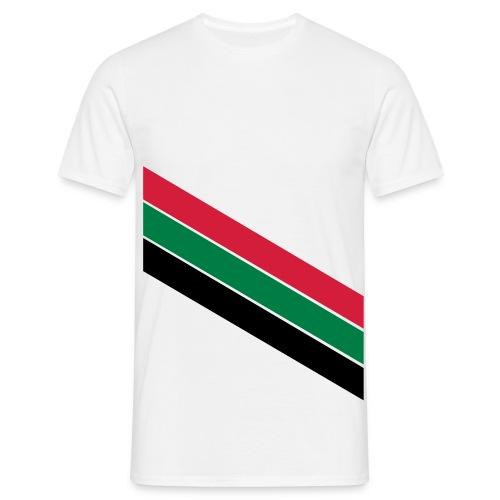 Rood groen zwarte banen - Mannen T-shirt